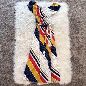 F21 Striped Midi Dress